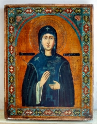 Russian Icon - Holy Monastic Martyress St Eudokia of Heliopolis