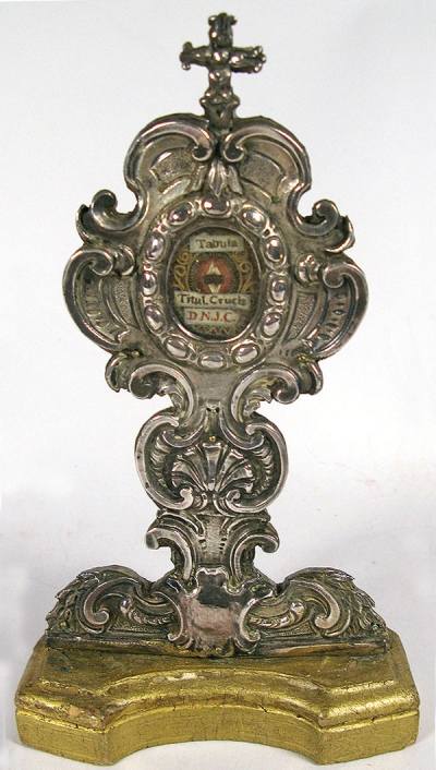 Reliquary Monstrance with relic from the Titulus Crucis (INRI) of the True Cross of Jesus