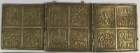"Russian 3-Panel Folding Skladen Travel Icon of ""The Twelve Principal Feasts."""