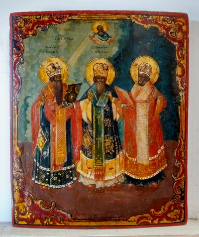 Russian Icon - Three Hierarchs of the Orthodox Church