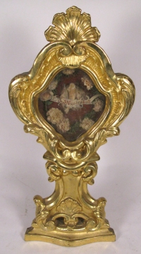 Reliquary monstrance with large relic of St Nicholas of Bari, the Wonderworker of Myra