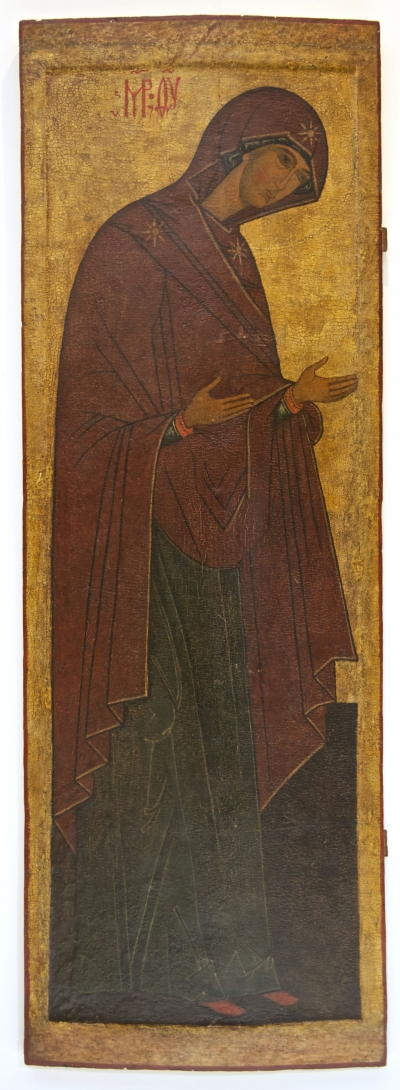 16c Russian Icon - the Virgin Mary from the Deesis Row of Iconostasis