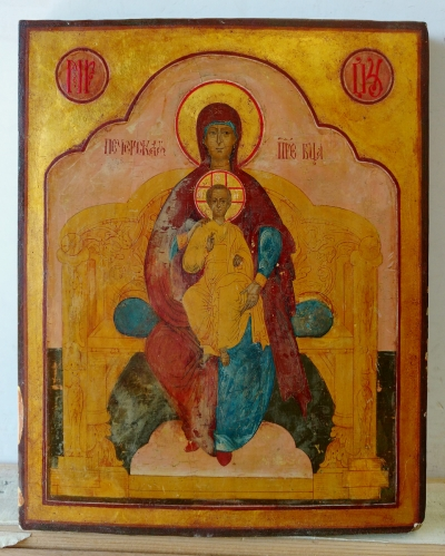 Russian Icon - The Enthroned Madonna