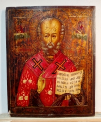 Russian Icon - Saint Nicholas, Wonderworker of Myra